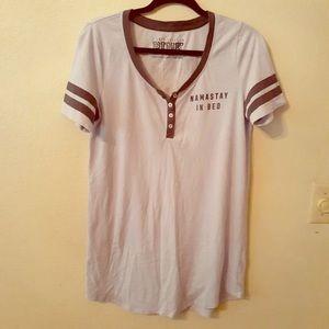 Pink Namaste in Bed Night Shirt